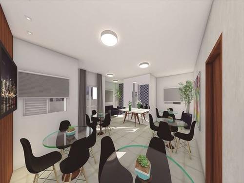 ref.: 3833 - apartamento em praia grande, no bairro mirim - 2 dormitórios
