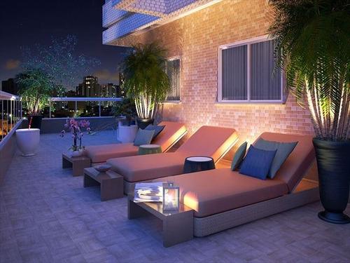 ref.: 3845 - apartamento em praia grande, no bairro aviacao - 2 dormitórios