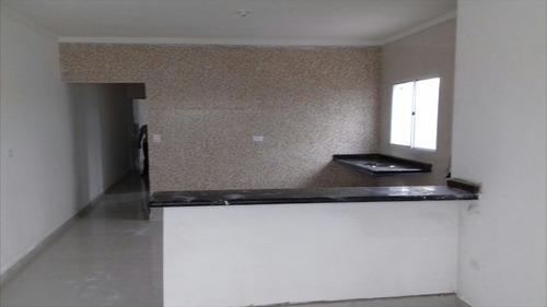 ref.: 39000 - casa em itanhaém, no bairro jardim grandesp - 2 dormitórios