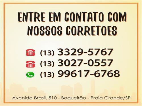 ref.: 4159 - apartamento em praia grande, no bairro boqueirao - 1 dormitórios