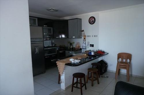 ref.: 452 - apartamento em praia grande, no bairro vila guilhermina - 2 dormitórios