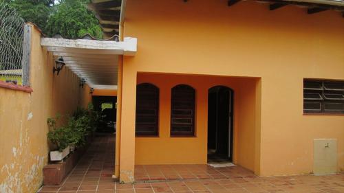 ref.: 452 - casa em itanhaém, no bairro praia do sonho - 3 dormitórios