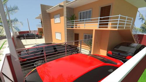 ref.: 454 - casa em itanhaém, no bairro balneário tupy - 2 dormitórios