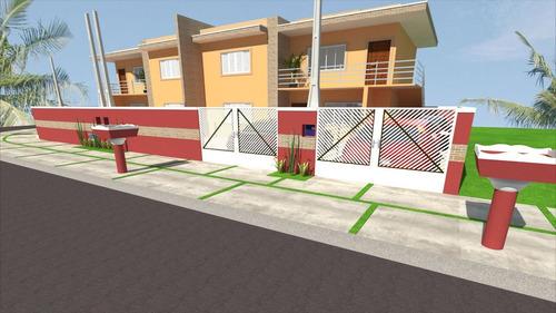 ref.: 45400 - casa em itanhaém, no bairro bal tupy - 2 dormitórios