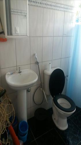 ref.: 465 - casa em itanhaém, no bairro balneário tupy - 2 dormitórios