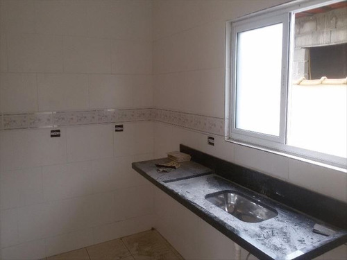 ref.: 476 - casa em mongagua, no bairro vera cruz - 2 dormitórios