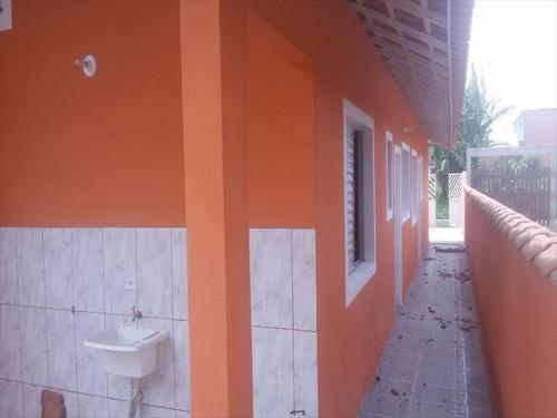 ref.: 495 - casa em mongagua, no bairro jussara - 2 dormitórios