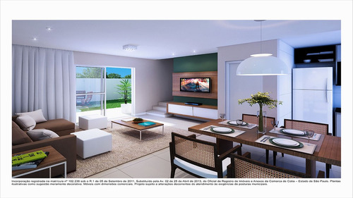 ref.: 5208 - casa em cotia, no bairro residencial vilagio veneza - 2 dormitórios