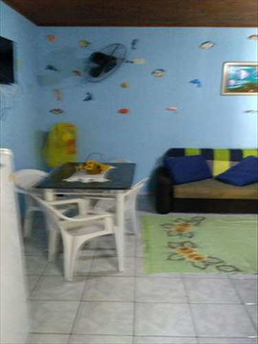 ref.: 558 - casa em itanhaem, no bairro san marcos - 1 dormitórios