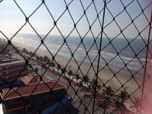 ref.: 570 - apartamento em mongaguá, no bairro vila atlantica - 2 dormitórios