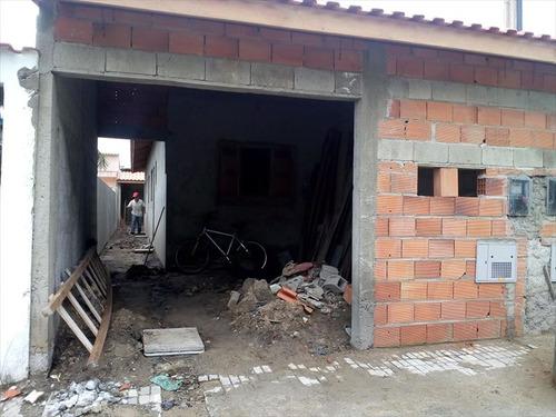 ref.: 574 - casa em mongaguá, no bairro itaoca - 2 dormitórios