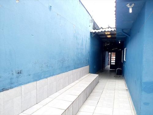 ref.: 575 - casa em mongaguá, no bairro jussará - 1 dormitórios