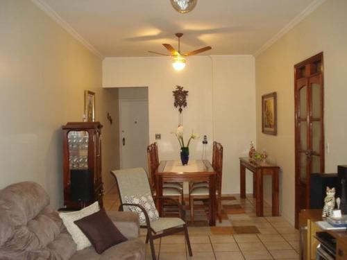 ref.: 580 - apartamento em santos, no bairro campo grande - 2 dormitórios