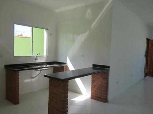 ref.: 581 - casa em itanhaem, no bairro fluvila - 3 dormitórios