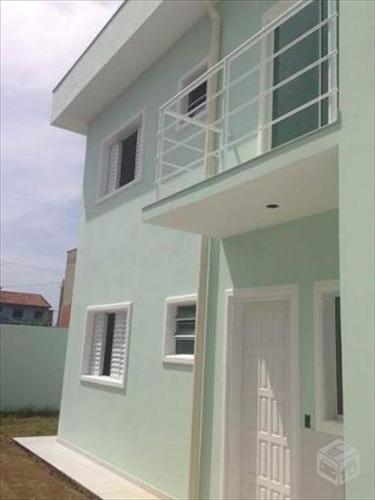 ref.: 584 - casa em itanhaem, no bairro jardim lindomar - 2 dormitórios