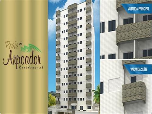 ref.: 592 - apartamento em praia grande, no bairro aviacao - 2 dormitórios