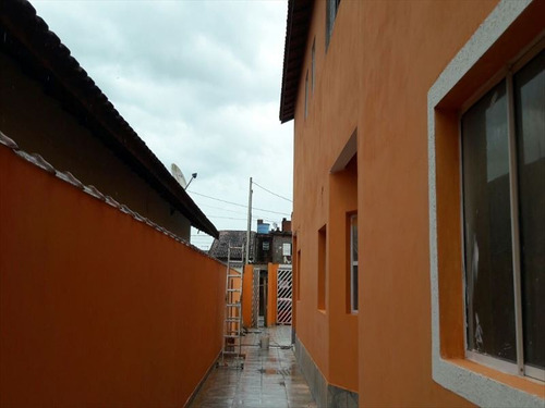 ref.: 592 - casa condomínio fechado em mongaguá, no bairro jardim seabra - 2 dormitórios