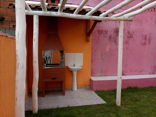 ref.: 597 - casa condomínio fechado em mongaguá, no bairro vila atlantica - 2 dormitórios