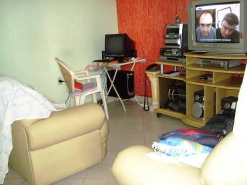 ref.: 601500 - casa em praia grande, no bairro guilhermina - 2 dormitórios