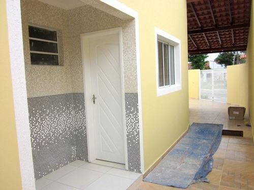 ref.: 603 - casa em itanhaem, no bairro jd das palmeiras - 2 dormitórios
