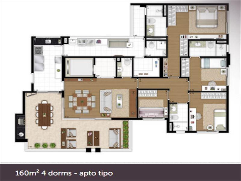 ref.: 6037 - apartamento em sao paulo, no bairro vila mariana - 4 dormitórios