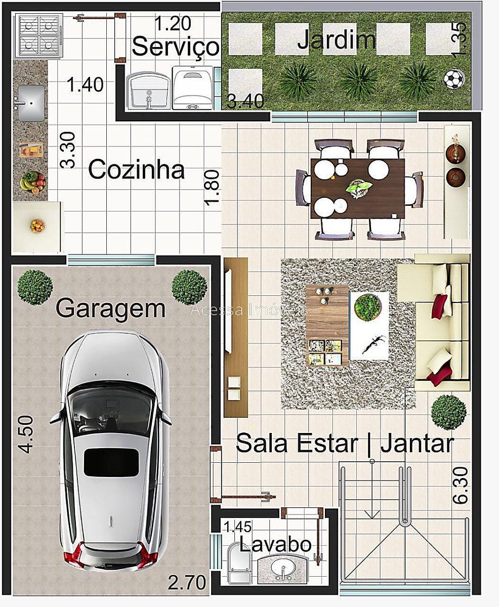 ref.: 6047 - casa 2 qtos - marilândia - 1939