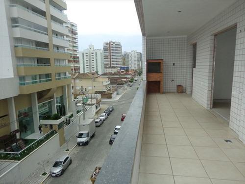 ref.: 605 - apartamento em praia grande, no bairro guilhermina - 2 dormitórios