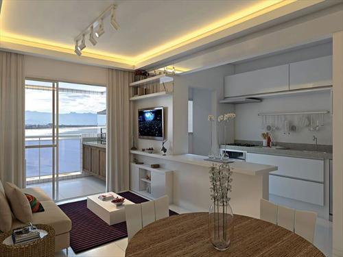 ref.: 610 - apartamento em bertioga, no bairro centro - 2 dormitórios
