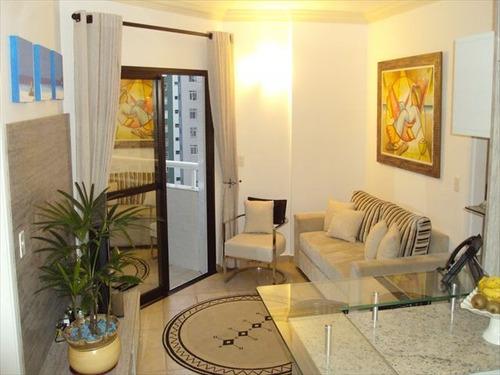 ref.: 6123 - apartamento em santos, no bairro boqueirao - 2 dormitórios