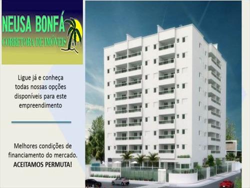 ref.: 615 - apartamento em mongaguá, no bairro centro - 2 dormitórios