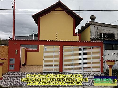 ref.: 618 - casa condomínio fechado em mongaguá, no bairro vera cruz - 2 dormitórios