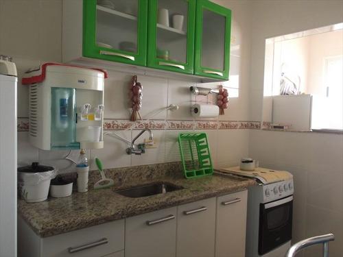 ref.: 624 - apartamento em mongagua, no bairro aguapeu - 1 dormitórios