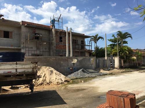 ref.: 624 - casa em itanhaém, no bairro tupi - 2 dormitórios