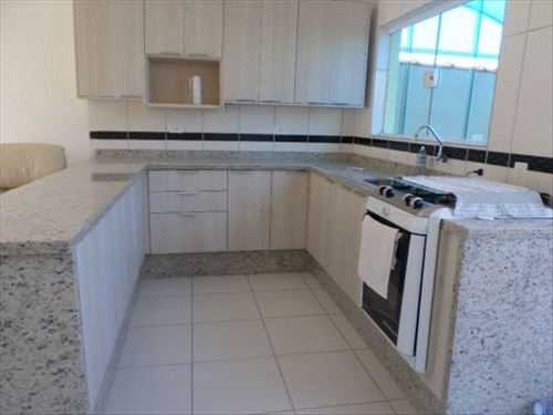 ref.: 625 - casa condomínio fechado em itanhaem, no bairro cibretel i - 2 dormitórios