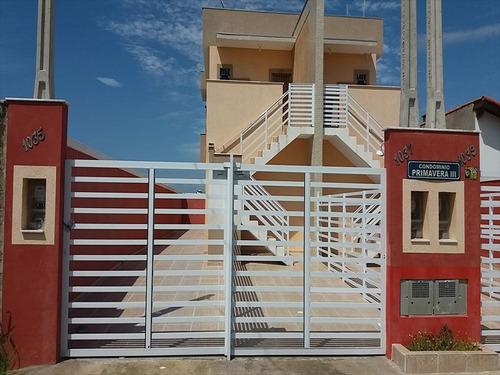 ref.: 625 - casa em itanhaém, no bairro tupi - 2 dormitórios