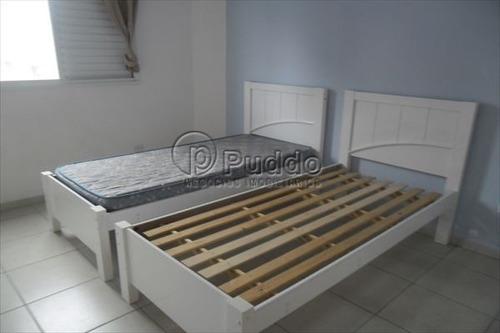 ref.: 627 - apartamento em praia grande, no bairro forte - 2 dormitórios