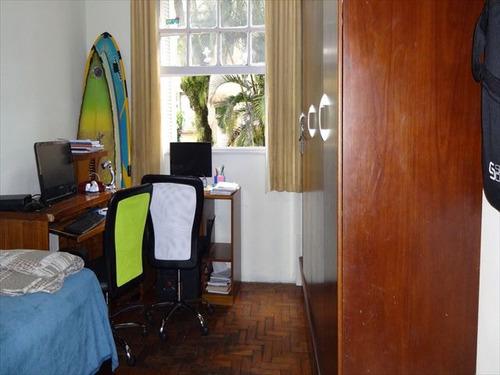 ref.: 6279 - apartamento em santos, no bairro gonzaga - 2 dormitórios