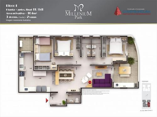ref.: 638 - apartamento em mongaguá, no bairro vila são paulo - 2 dormitórios