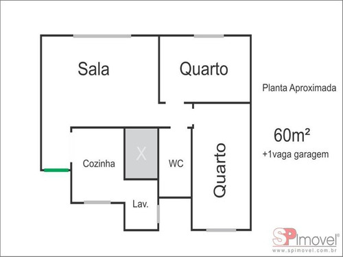 ref.: 6417 - apartamento em sao paulo, no bairro vila medeiros - 2 dormitórios