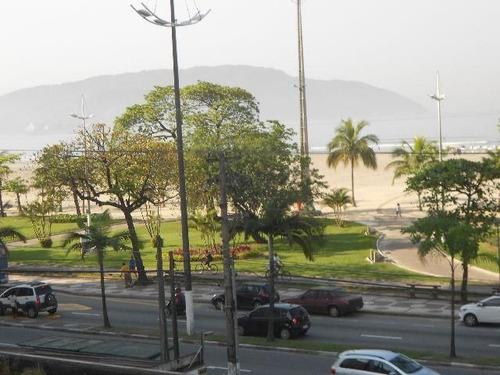 ref.: 6446 - apartamento em santos, no bairro gonzaga - 2 dormitórios