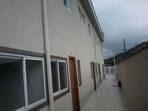 ref.: 645 - casa em mongaguá, no bairro vila atlantica - 2 dormitórios