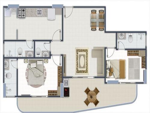 ref.: 665800 - apartamento em praia grande, no bairro aviacao - 2 dormitórios