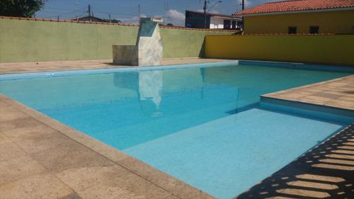 ref.: 6800 - casa condomínio fechado em itanhaém, no bairro umuarama - 3 dormitórios