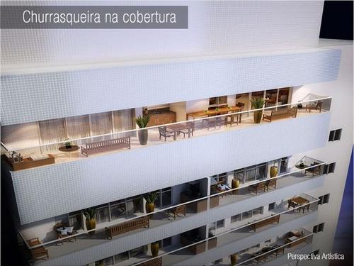 ref.: 6818 - apartamento em santos, no bairro boqueirao - 1 dormitórios