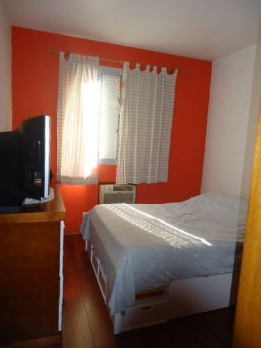 ref.: 687 - apartamento em santos, no bairro campo grande - 2 dormitórios