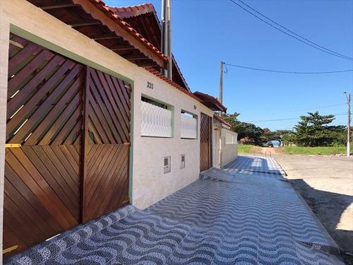 ref.: 732 - casa em mongaguá, no bairro agenor de campos pertinho do mar - 2 dormitórios