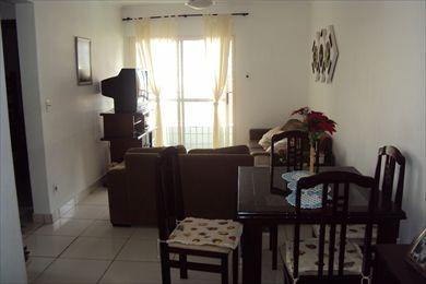 ref.: 834 - apartamento em praia grande, no bairro guilhermina - 2 dormitórios
