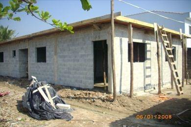 ref.: 84100 - casa em sao vicente, no bairro vila ema - 2 dormitórios