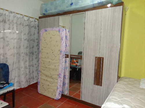 ref.: 855 - casa em praia grande, no bairro caicara - 1 dormitórios