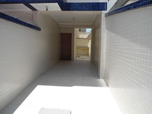 ref.: 856 - casa em santos, no bairro aparecida - 3 dormitórios